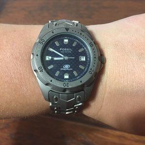 Fossil Blue Titanium Watch TI-5020 200 M